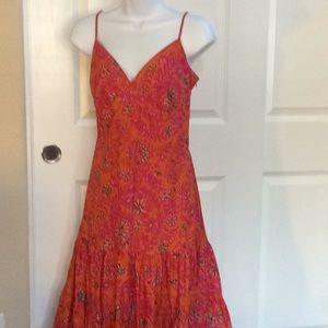 Gap Sun Dress orange and hot pink